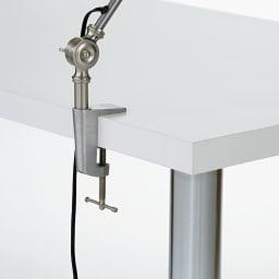 シンプルワークデスク 幅150奥行60cm デスク天板にクランプが取り付け可能(板厚3.5cm)。