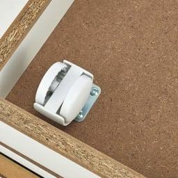 光沢リビングシリーズ ワゴン 幅45cm ワゴンは隠しキャスターで移動簡単。お部屋の美観も損ねません。