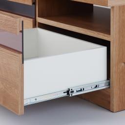 天然木調テレビ台ハイバックシリーズ テレビ台・幅120.5奥行45cm 引き出しは開閉がスムーズなスライドレールを使用