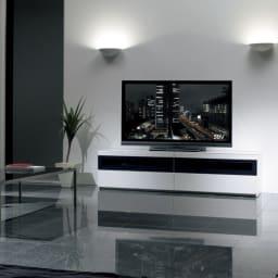 パモウナBW-200 輝く光沢のモダンリビングシリーズ テレビ台 幅200cm (ア)ホワイト ※写真はテレビ台・幅180cmタイプです。