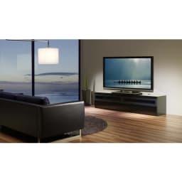 パモウナBW-200 輝く光沢のモダンリビングシリーズ テレビ台 幅200cm 上質な時間を過ごすのにふさわしい、豊かな質感が満ちるリビングへ。