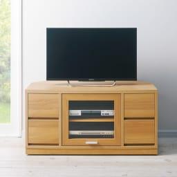 角度が自由自在の収納充実コーナーテレビ台 幅100高さ50cm (使用イメージ)(ウ)ナチュラル