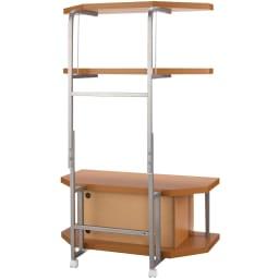 テレビ上の空間を有効活用できるシリーズ コーナー用テレビ台 幅90cm・棚2段 (背面)