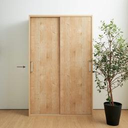 天然木調引き戸本棚 幅115cm奥行40cm ※お届けする商品、幅115奥行40cmタイプです。