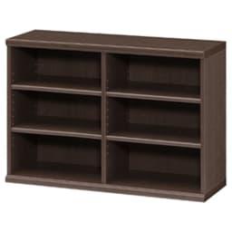 色とサイズが選べるオープン本棚 幅86.5cm高さ60cm (エ)ダークブラウン