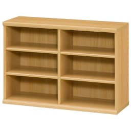 色とサイズが選べるオープン本棚 幅86.5cm高さ60cm (オ)ナチュラル