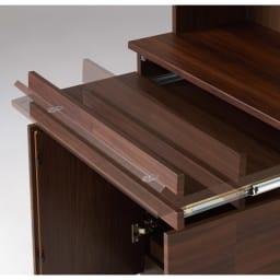 LEDライト付きコレクションシェルフ PCデスク 幅58cm PC用のスライドテーブル付き。