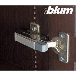 本格仕様 快適スライド書棚 タモ天然木扉付き・上置き付き 4列 扉がバタンと閉まりづらいブルム社製の金具を使用。