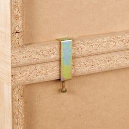 組立不要 たっぷり収納できる天然木調スライド本棚 2重 幅90cm 上下に積んでも安心な連結金具付き。