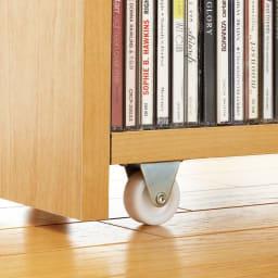 1cmピッチ スライド式すき間収納ワゴン単体 幅16cm (可動棚板8枚タイプ) 大型キャスターでたっぷり収納しても軽い動き。