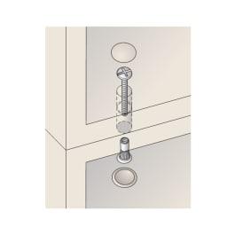 壁面間仕切りワードローブ ブレザー・幅60cm 上置と本体はジョイントネジで連結。