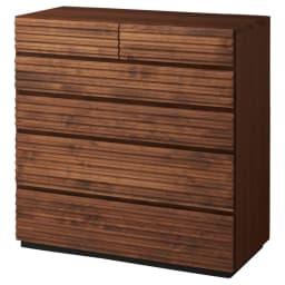 天然木横格子柄のローチェスト 幅90cm・5段 商品画像