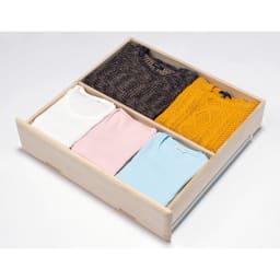 【衣類に優しい押し入れ収納】総桐スライドレール押入3段 スリム75 便利な仕切り板付き(前後2列に整理できます)