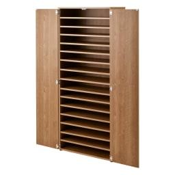 棚板たっぷり大容量シューズボックス 幅75cm (ア)ブラウン