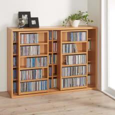 スライド式CD&コミックラック 2重タイプ5段 幅120cm [CD用]