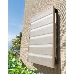 プライバシー対策に 格子窓専用カバー「サンシャインウォール」組立式 After(ア)シャンパンゴールド(ステンカラー)