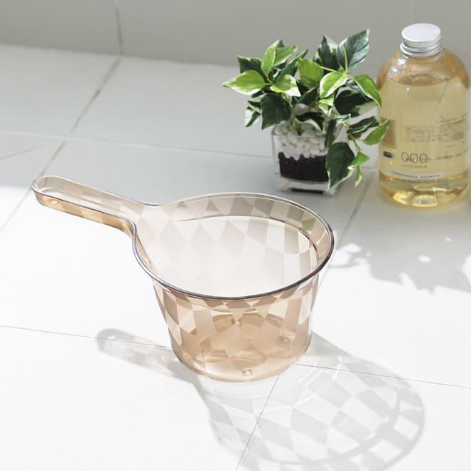 アクリル製 湯手桶 (ウ)モカベージュ系