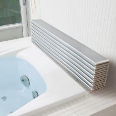銀イオン配合 軽量・抗菌折りたたみ式風呂フタ サイズオーダー 奥行75cm(シルバー色)