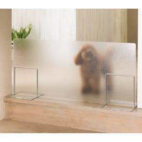 アクリル製ペットゲート 高さ40.5cm すりガラス1枚 写真