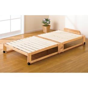 折りたたみ式ひのきすのこベッド シングル 写真