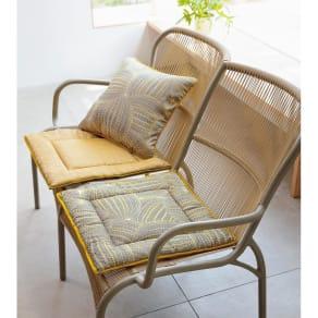 約48×120cm(2人掛用)(スペイン製ジャカード織りシートクッション) 写真
