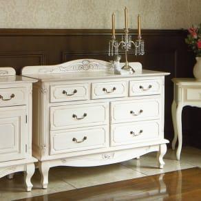 アンティーク調クラシック家具シリーズ チェスト・幅110cm 写真