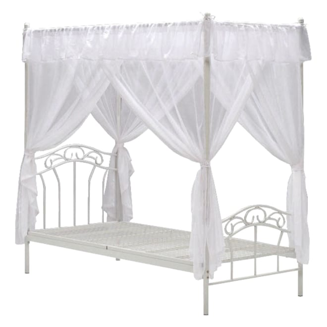 エレガントプリンセスベッド 天蓋付きシングルベッド(フレームのみ)
