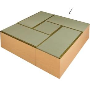 ユニット畳シリーズ お得なセット 4.5畳セット 幅180奥行180cm 高さ45cm 写真