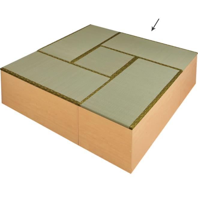 ユニット畳シリーズ お得なセット 4.5畳セット 幅180奥行180cm 高さ45cm 4.5畳セット(半畳タイプ×1、1畳タイプ×4) (イ)ライトブラウン