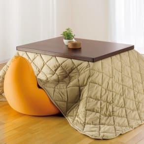 【長方形】幅105cm奥行80cm ダイニングこたつテーブル【高さ調節できます】 写真