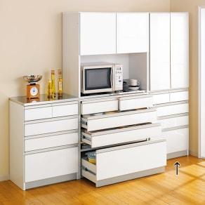 シンプルラインダイニングボードシリーズ 食器棚 幅59.5 高さ173.5cm 写真