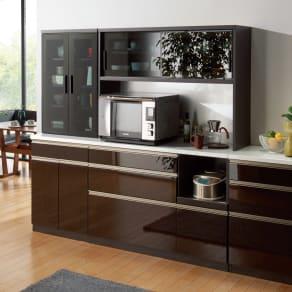 高機能 モダンシックキッチン キッチンボード 幅120奥行51高さ178cm 写真