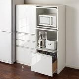 家電が隠せる!シンプルキッチンストッカー食器棚 高さ150cm