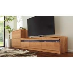 天然木調テレビ台シリーズ ロータイプテレビ台 幅159.5高さ40.5cm コーディネート例 ※お届けはロータイプテレビ台幅159.5cmです。