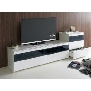 パモウナBW-160 輝く光沢のモダンリビングシリーズ テレビ台 幅160cm 写真