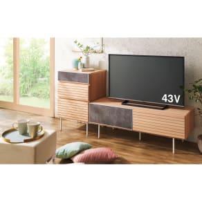 セラミック調ガラスのスタイリッシュテレビ台 幅120cm 写真