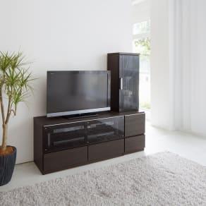 ソファや椅子からも見やすい高さ60cmの テレビ台 幅120cm 写真