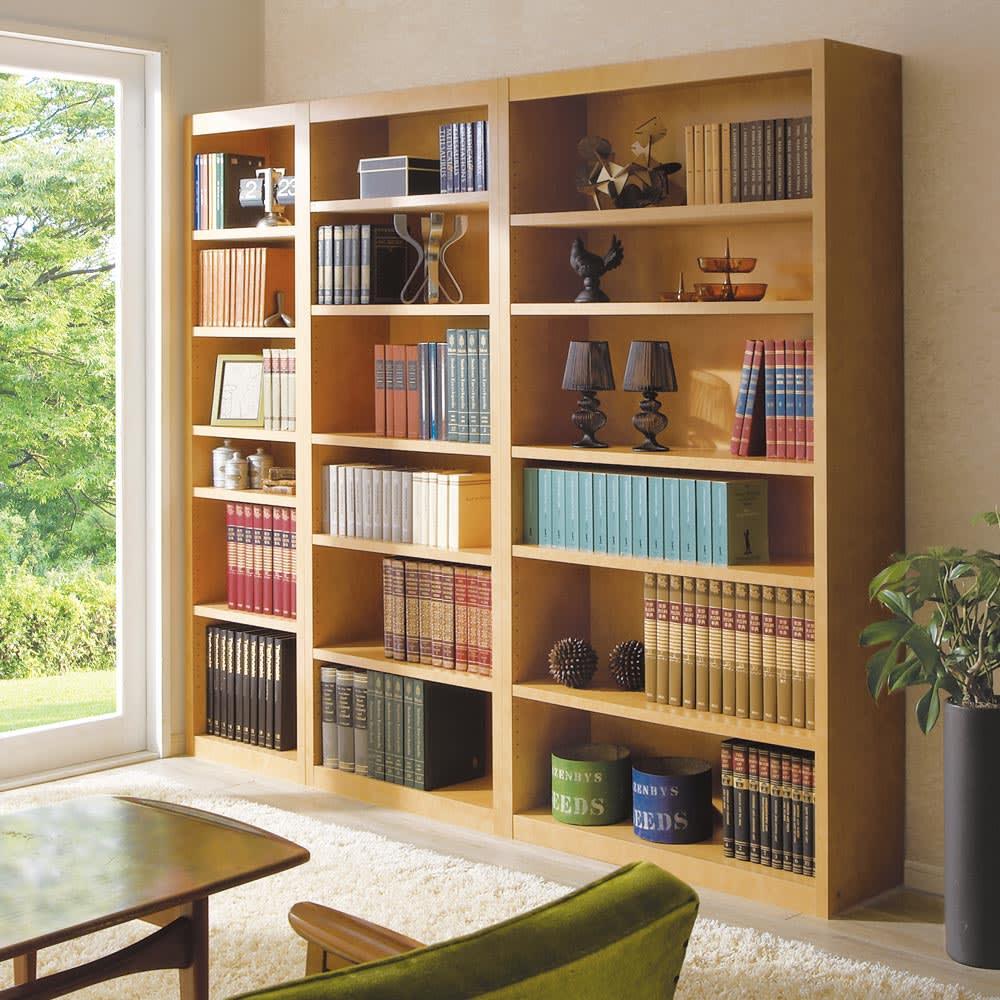 頑丈棚板がっちり書棚(頑丈本棚) ハイタイプ 幅50cmのコーディネート