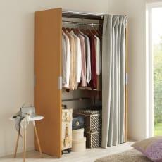 部屋に合わせてコーディネート カーテン取り替え自在ハンガー 棚なしタイプ 幅85~125cm
