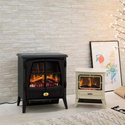 ディンプレックス 暖炉型ファンヒーター ジャズ2 左側(ア)ブラック 販路限定モデル