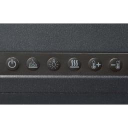 ディンプレックス 暖炉型ファンヒーター ジャズ2 リモコンでもスイッチでも温度と炎の大きさが調整できます。