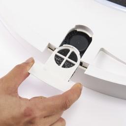 羽根のないシーリングライト LEDスマートシーリングファン 「UZUKAZE」 フィルターで吸い込んだホコリやニオイもクリーンに。