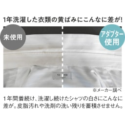 ナノバブルアダプター洗濯機用 洗濯例 本品未使用時