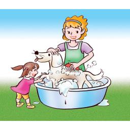 お風呂のハイパワーヒーター「沸かし太郎」 ペットのシャンプーに