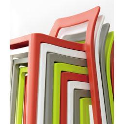 ENOTS ミニマルスタッキングチェア [I'mD/アイムディー] 全4色。どれもインテリアに合わせやすいおしゃれなカラー。