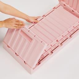 コンテナストレージボックス 単品 薄くたためて持ち運びも簡単だから、アウトドアにも便利です。