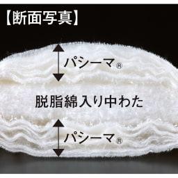 パシーマ(R)でつくったお布団(衿カバ-付き) 高純度ガーゼと脱脂綿のパシーマ(R)で、脱脂綿入りの中わたをサンド!1日に5枚ほどしか作れません、ご購入はお早めに。