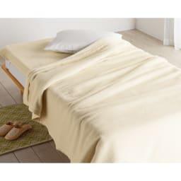 シルクのような光沢となめらかさ プレミアムベビーアルパカ敷き毛布 (ア)ホワイト 【お得な掛け毛布&敷き毛布セットもあります】 全身を温かくなめらかに包んでくれる掛け敷きセット使いがおすすめ。※お届けは敷き毛布です。