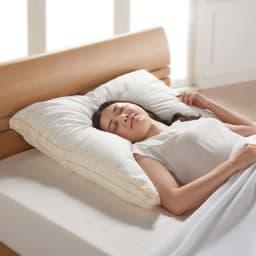 フィベールピロープレミアム 枕のみ ハーフボディ(1個) シリーズ累計出荷数45万個突破の大ヒット枕、フィベールピロープレミアムから80cm×80cmのハーフボディサイズ!