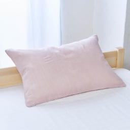 発熱するコットン「デオモイス」寝具シリーズ とろける三重ガーゼピローケース (イ)オールドローズ ※色が若干薄くうつっています。生地アップとコーディネート画像の色味を参照にしてください。